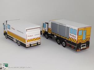 paper model-volvo-fh-prorail-bergingswagen-bouwplaatvanjeeigentruck