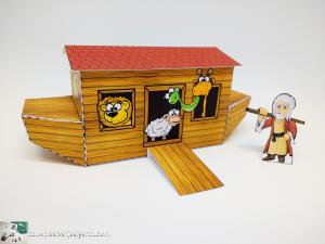 bouwplaatvanjeeigentruck-papertrucklogo-paper model-noah's ark